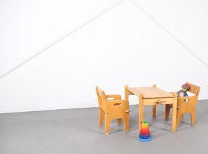 Hans Wegner Getama Perters Chair and Table Danish Modern Design Vintage Midcentury 60s Classics