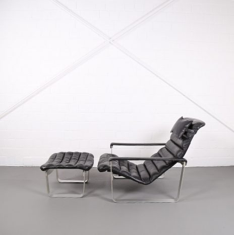 Ilmari Lappalainen Pulkka Asko Lounge Chair and Ottoman 2