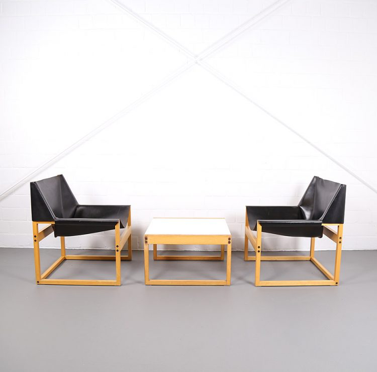 Architect Armchairs Easy Chairs 60s 60er Design Vintage Leather Chair Ledersessel graphical minimal