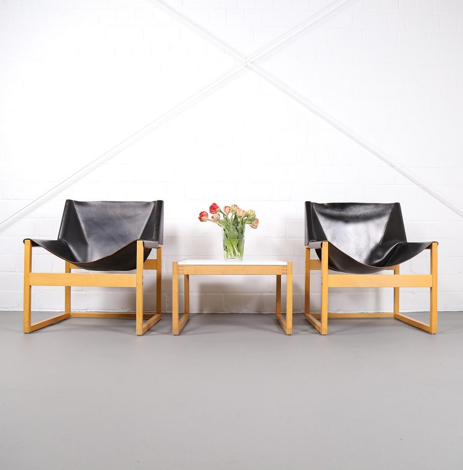 Architect_Armchairs_Sidetable_Architekt_Schell_Goettingen_Graphical_Leather_Easy_Chairs_60er_18