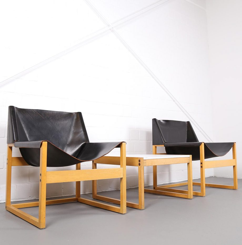 Architect_Armchairs_Sidetable_Architekt_Schell_Goettingen_Graphical_Leather_Easy_Chairs_60er_20