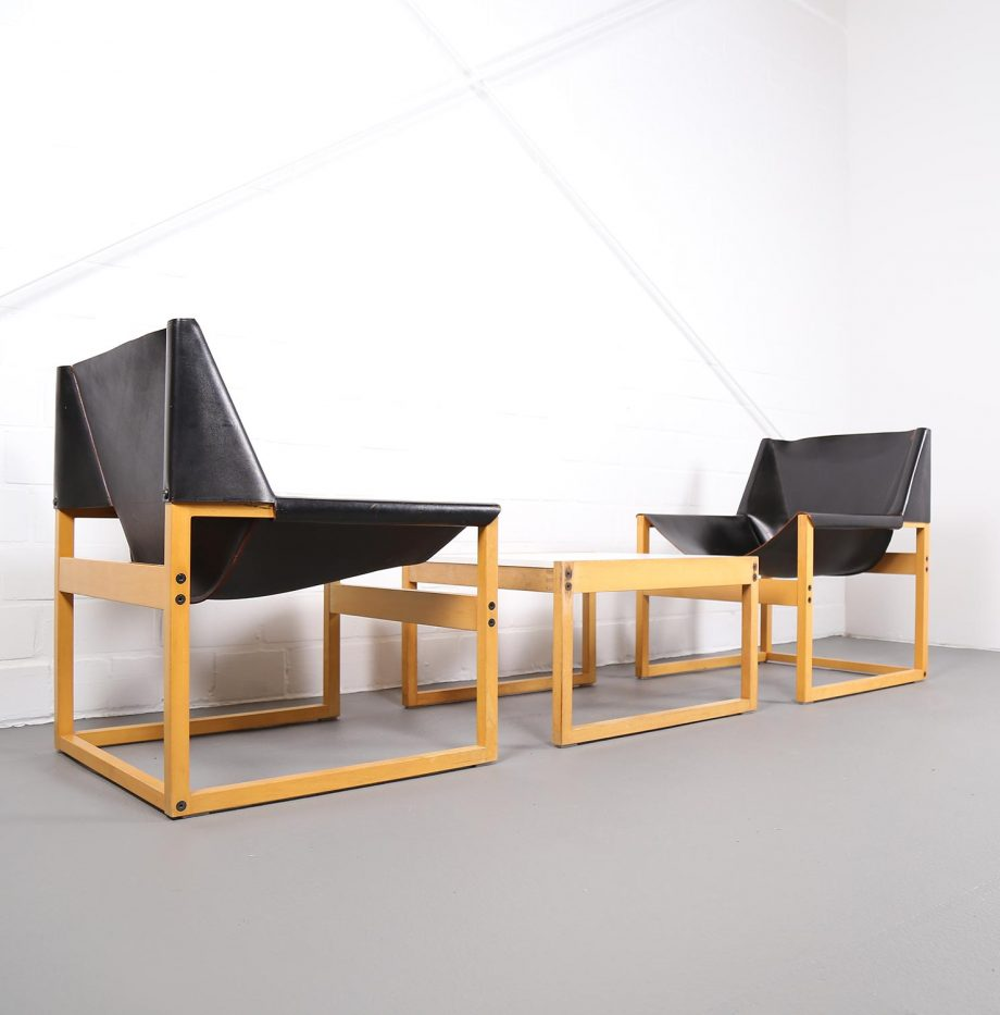 Architect_Armchairs_Sidetable_Architekt_Schell_Goettingen_Graphical_Leather_Easy_Chairs_60er_22