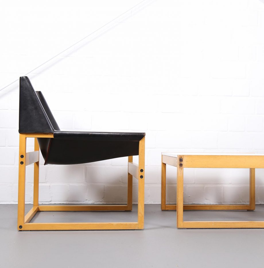 Architect_Armchairs_Sidetable_Architekt_Schell_Goettingen_Graphical_Leather_Easy_Chairs_60er_23