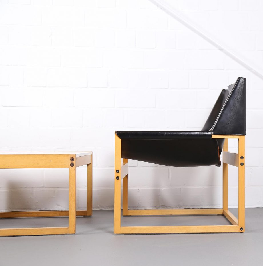Architect_Armchairs_Sidetable_Architekt_Schell_Goettingen_Graphical_Leather_Easy_Chairs_60er_24