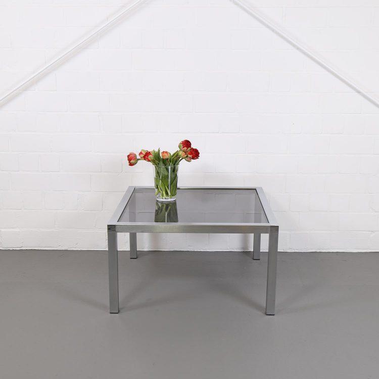 70er Jahre Space Age Designer Wohnzimmertisch Coffee Table Chrome Retro Eames