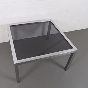 70er Jahre Space Age Designer Wohnzimmertisch Coffee Table Chrome Retro Eames