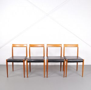 Danish Design Dining Chairs minimalism Vintage Eßzimmerstühle Teak