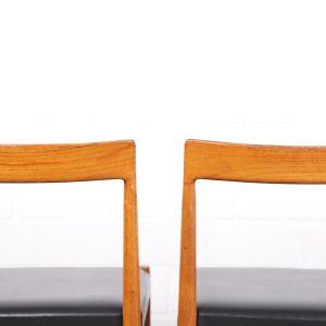 Danish Design Dining Chairs 60er Midcentury Modern Stühle Teakstühle Vintage Esszimmmerstühle