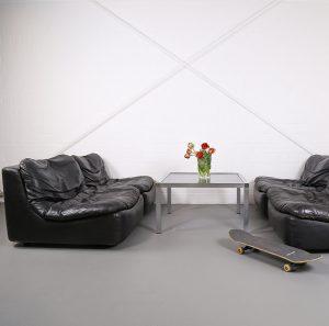Dreipunkt Cor Vintage Sofa Modulsofa modular Couch Designersofa Retro Ledersofa