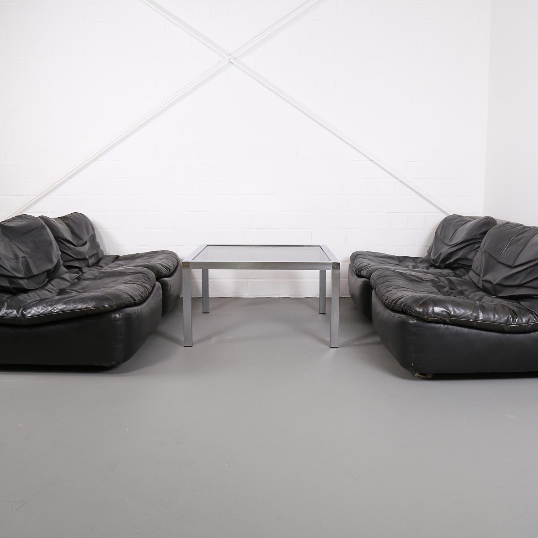 dreipunkt cor modular ledersofa 70er vintage retro couch. Black Bedroom Furniture Sets. Home Design Ideas