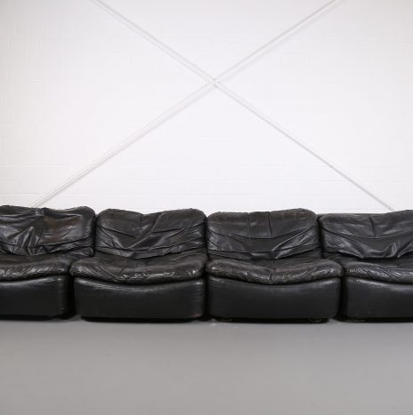 Vintage Modular Leather Sofa from Dreipunkt International COR