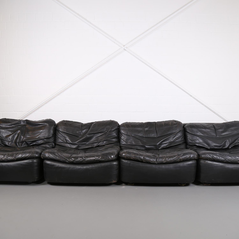 vintage modular leather sofa from dreipunkt international cor dekaden. Black Bedroom Furniture Sets. Home Design Ideas