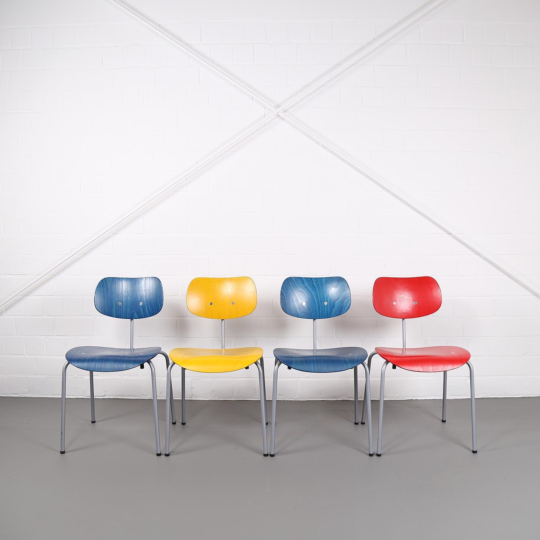 Four Dining Chairs By Egon Eiermann For Wilde Spieth Se 68 Dekaden
