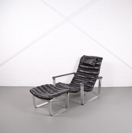 Ilmari Lappalainen Pulkka Asko Lounge Chair and Ottoman 1