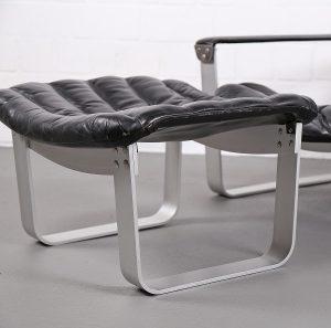 Ilmari Lappalainen Pulkka lounge chair Ledersessel Finnish Design Vintage Prouve Arne Norrell Ari