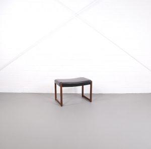 Kill International Glatzel Ottomane Hocker für Sessel Klavierhocker Rosewood Palisander Knoll Lederhocker Vintage Design