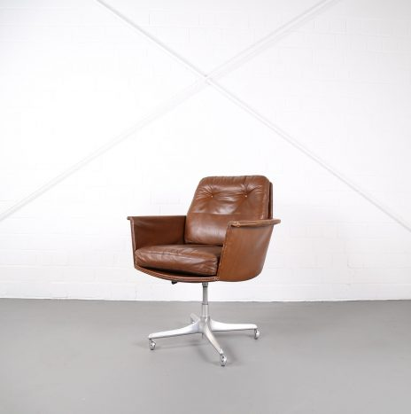 Easy Chair Leather Chair Sedia by Horst Brüning for COR