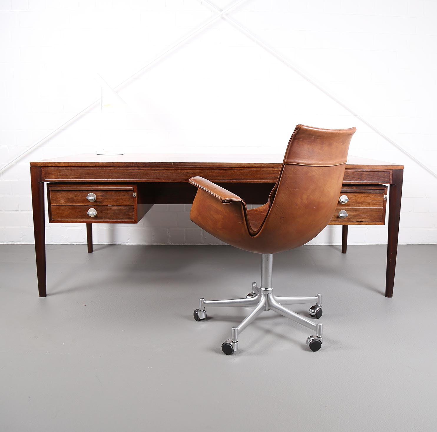 schreibtisch diplomat finn juhl f r france s n danish design midcentury modern ebay. Black Bedroom Furniture Sets. Home Design Ideas