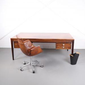 Finn Juhl Desk Diplomat Schreibtisch Cado France & Son Danish Desing 60s 60er Palisander Rosewood Designklassiker gebraucht Vintage 2nd Hand