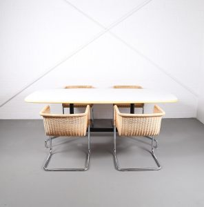 Tecta D43 Bauhaus Chair Charles Eames Herman Miller Segmented Table Vitra