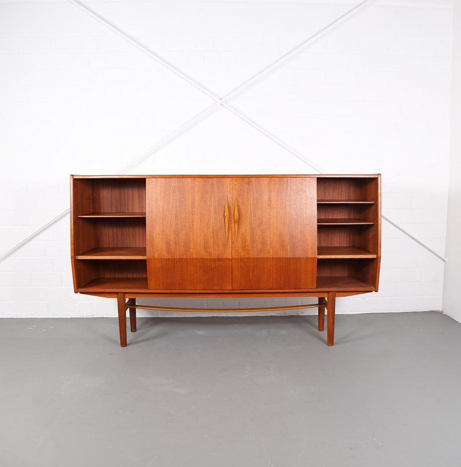 Geometric danish design teak sideboard credenza dekaden - Danish furniture designers ...