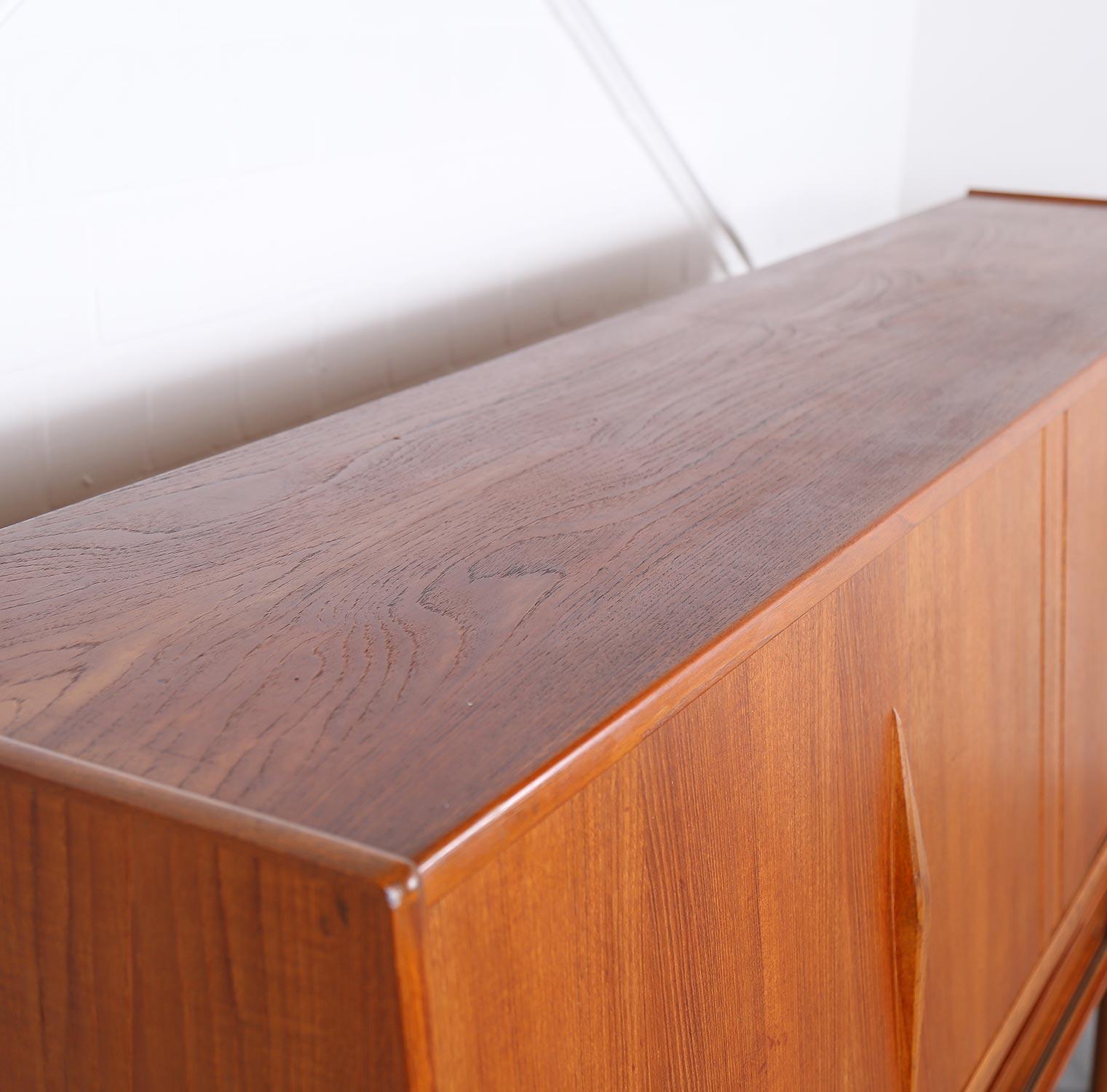 Geometric Danish Design Teak Sideboard Credenza Dekaden