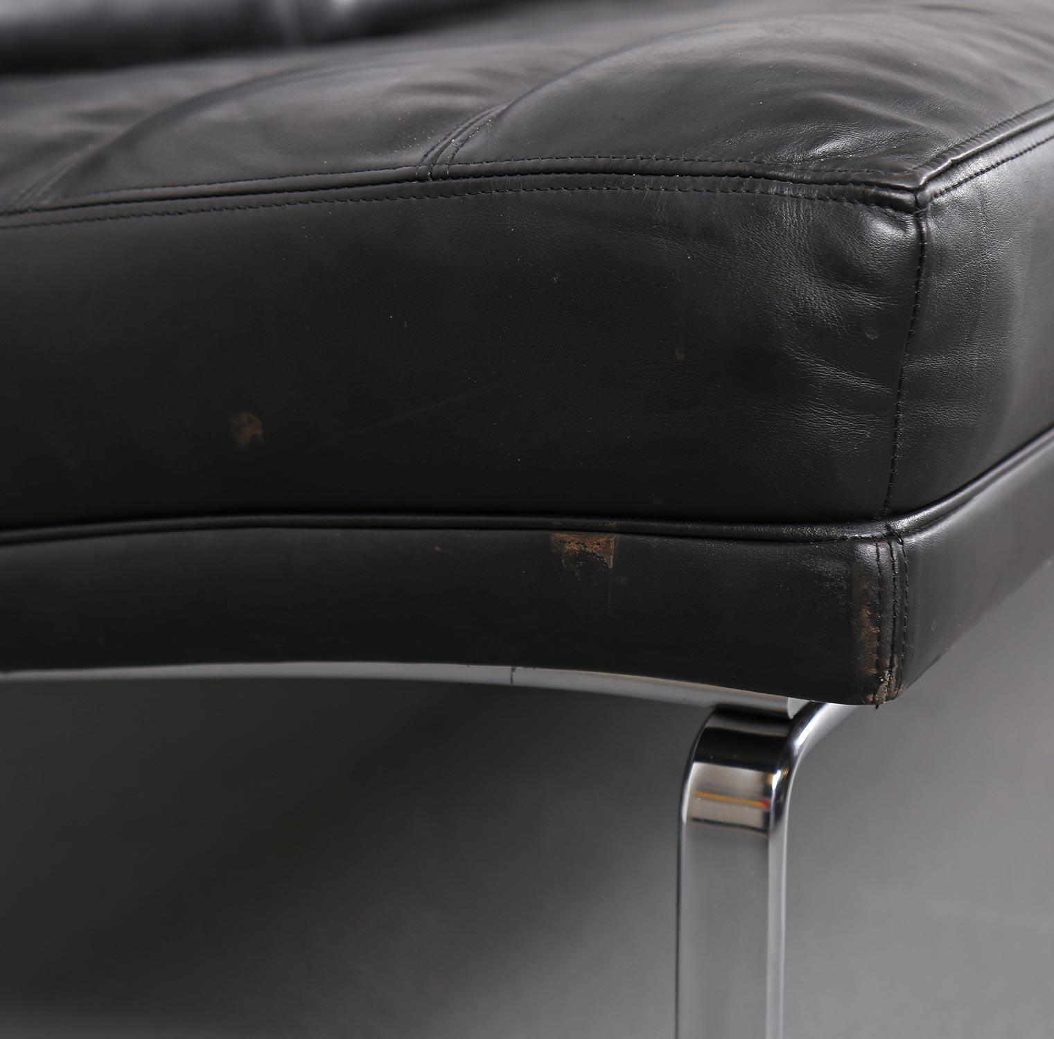 kill international horst bruening sofa ledersofa kastholm designklassiker knoll black leather. Black Bedroom Furniture Sets. Home Design Ideas