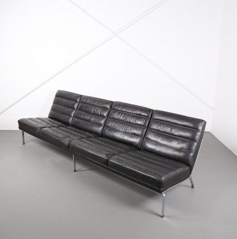 4-Seater Leather Sofa Horst Brüning for Kill International