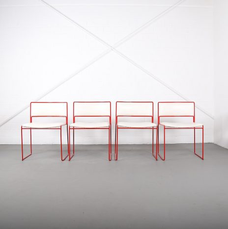 Rare Set of four Stacking Chairs Preben Fabricius/Jørgen Kastholm for Kill International