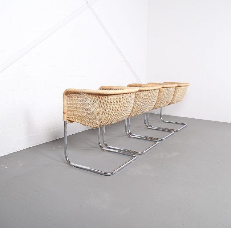D43 Bauhaus Style Cantilever Chairs by Tecta Mart Stam Marcel Breuer Jprgen Kastholm Preben Fabricius