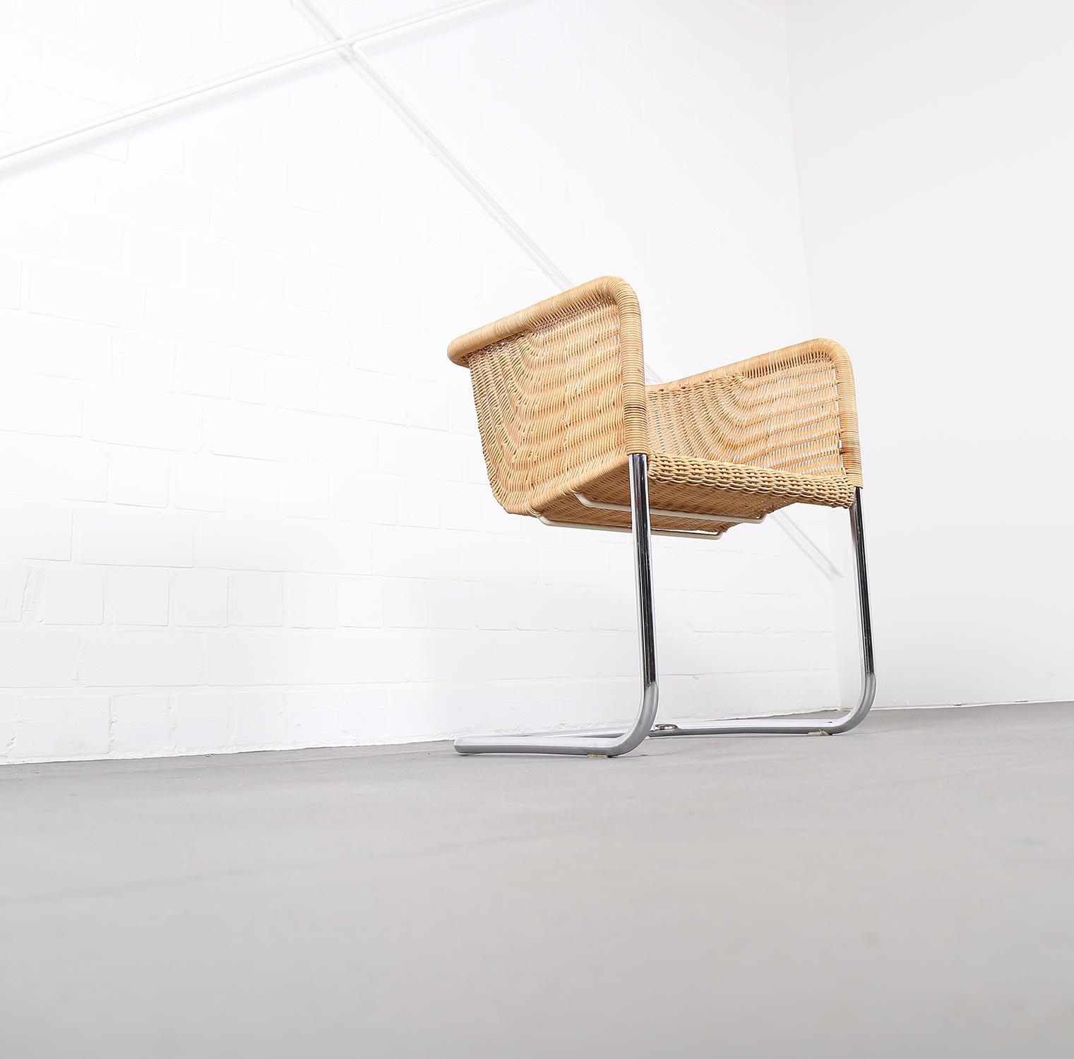 Bauhaus chairs d43 stahlrohr freischwinger by tecta for Stuhl design bauhaus