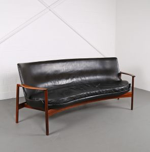 Ib Kofod-Larsen Sofa Elizabeth Larsen Christensen leather sofa Danish Design used gebraucht Vintage Classic Design Midecentury Modern Furniture