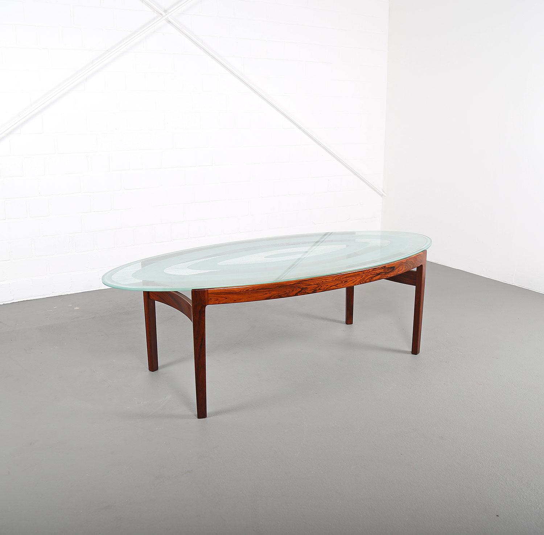 ib kofod larsen christensen larsen sofa table rosewood glass palisander coffee table danish. Black Bedroom Furniture Sets. Home Design Ideas