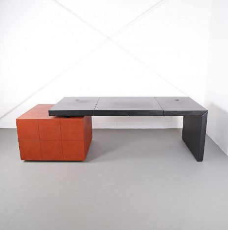 Leather Office Desk C.E.O. Cube Lella & Massimo Vignelli for Poltrona Frau