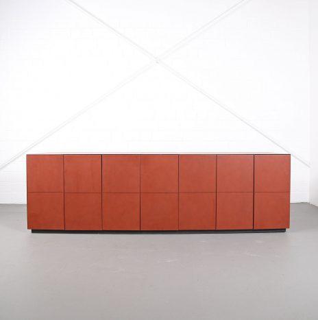 Leder-Sideboard Leather Credenza C.E.O. Cube Lella & Massimo Vignelli for Poltrona Frau