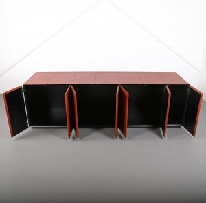lella und massimo vignelli leder-sideboard leather credenza ceo poltrona frau made in italy