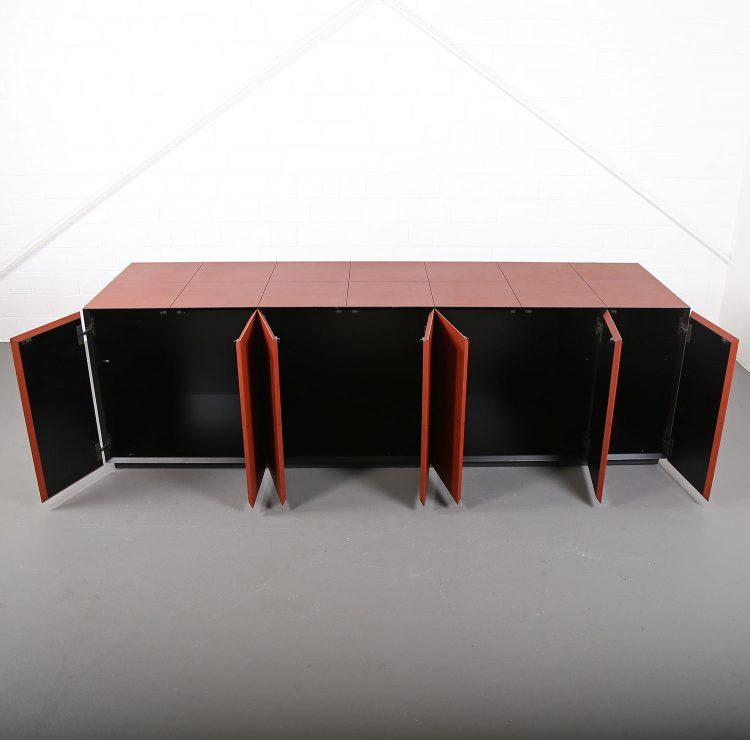 lella und massimo vignelli leder-sideboard leather credenza ceo poltrona frau made in italy