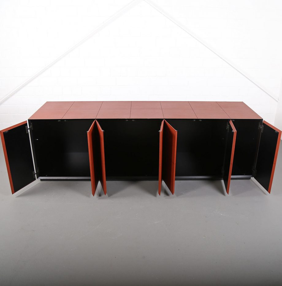 leder sideboard leather credenza c e o cube lella massimo vignelli for poltrona frau dekaden. Black Bedroom Furniture Sets. Home Design Ideas