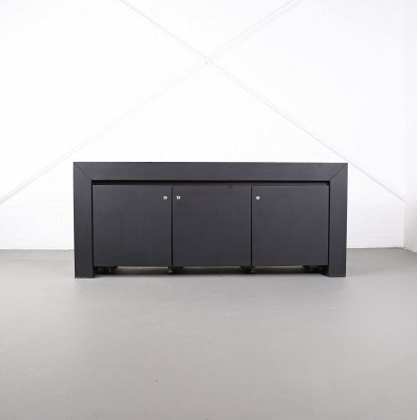 Leder-Sideboard Leather Credenza black C.E.O. Cube Lella & Massimo Vignelli for Poltrona Frau