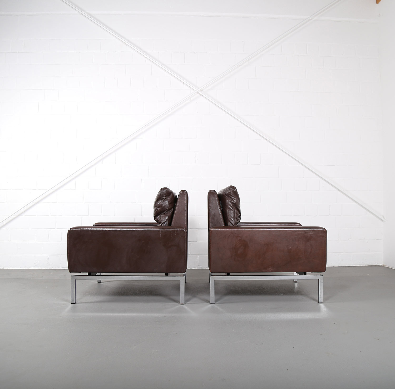 Ledersofa designklassiker  Set of two Leather Armchairs Hans Peter Piehl for Wilkhahn ...