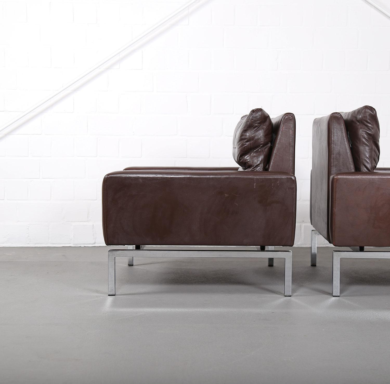 Wilkhahn Programm 800 Leather Sofa Ledersofa 70er Design