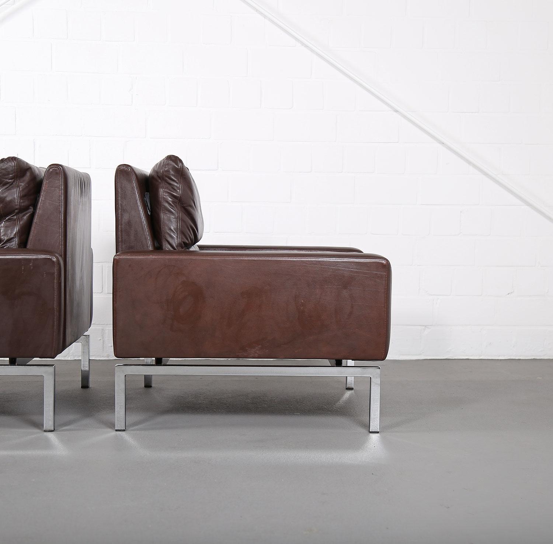 wilkhahn programm 800 leather sofa ledersofa 70er design designklassiker gebraucht 22 dekaden. Black Bedroom Furniture Sets. Home Design Ideas