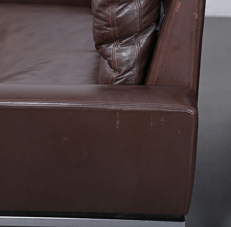 set of two leather armchairs hans peter piehl for wilkhahn programm 800 dekaden. Black Bedroom Furniture Sets. Home Design Ideas