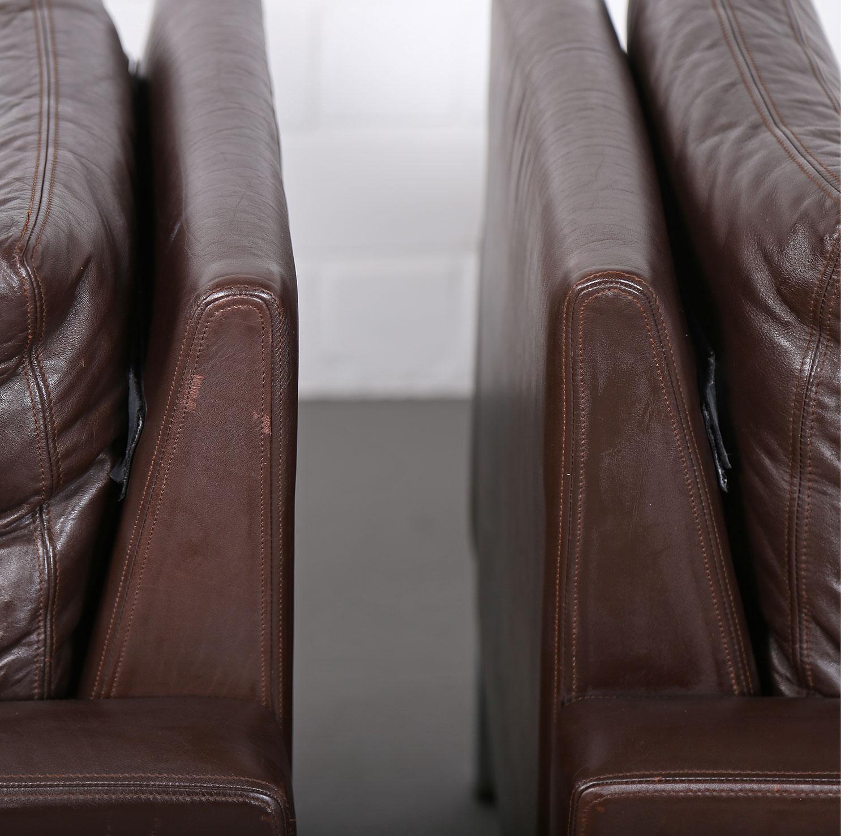 wilkhahn programm 800 leather sofa ledersofa 70er design designklassiker gebraucht 24 dekaden. Black Bedroom Furniture Sets. Home Design Ideas