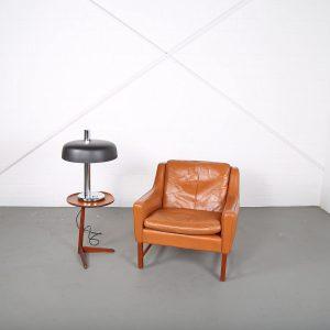 Retro Designer Tischleuchte Hillebrand Martin 70s 70er Jahre chrom