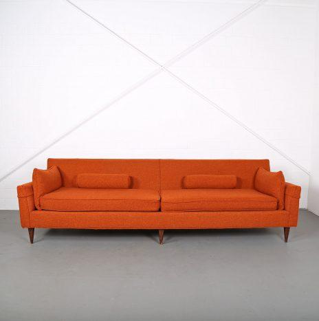 Mid Century Modern Vintage 3-Seater Sofa USA Dunbar (attr.)
