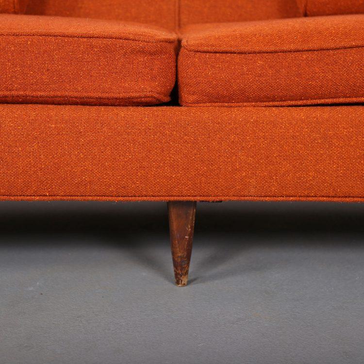 Edward Wormley Style Sofa Couch MCM mid century modern sofa kroehler milo baughman dunbar Classic Design