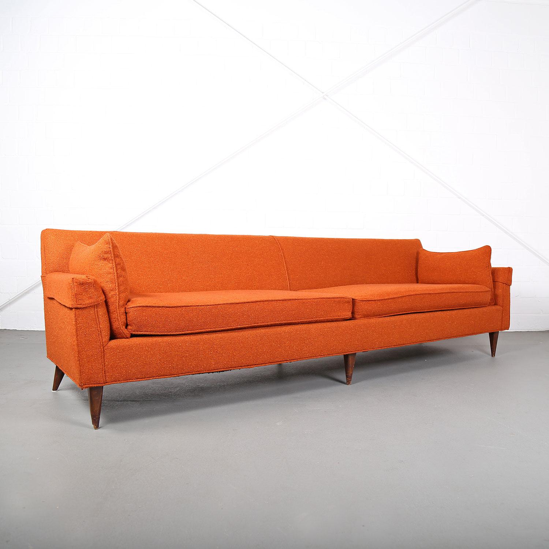 mid century modern sofa usa kroehler edward wormley milo baughman style 50s 50er hopsack 19. Black Bedroom Furniture Sets. Home Design Ideas