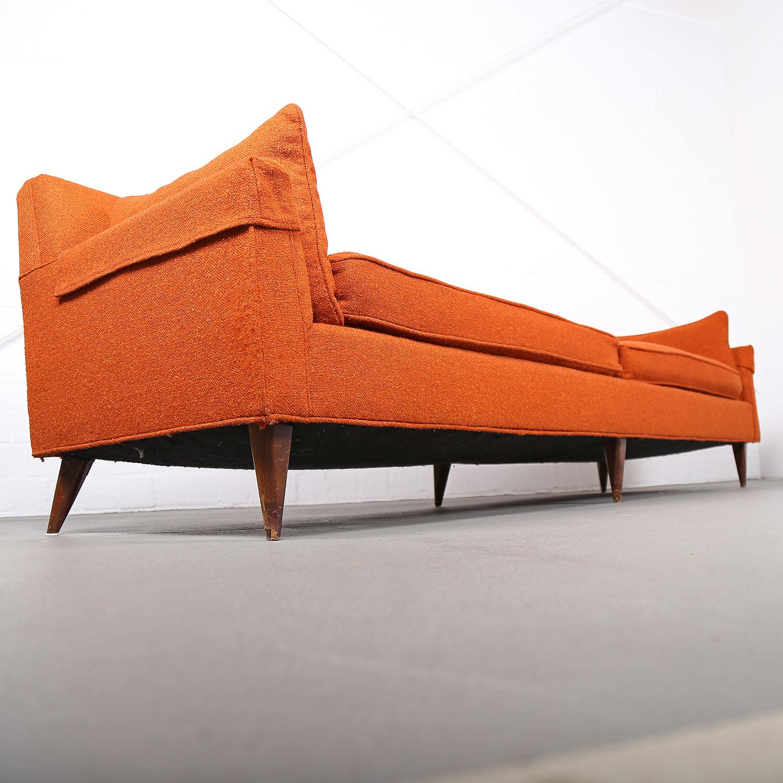 mid century modern sofa usa kroehler edward wormley milo baughman style 50s 50er hopsack 21. Black Bedroom Furniture Sets. Home Design Ideas