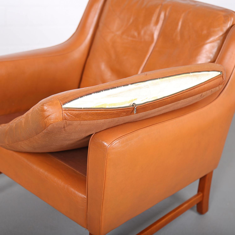 sessel ledersessel fredrik kayser vatne teak 60er midcentury modern design danish 29 dekaden. Black Bedroom Furniture Sets. Home Design Ideas